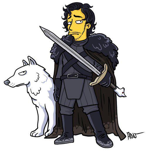Jhon Snow versión Simpsons (9)