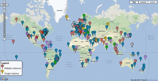mapa servidores raiz