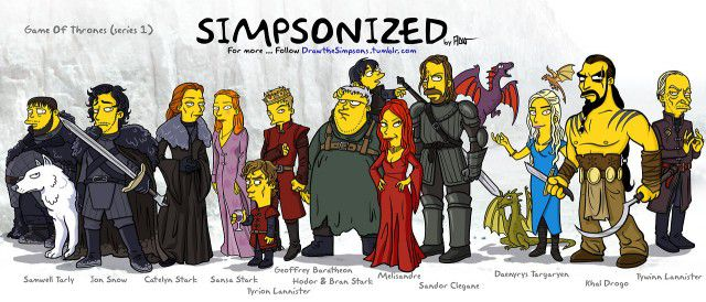 Game Of Thrones versión Simpsons (3)