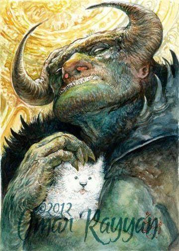 Pinturas horripilantes de Omar Rayyan (7)