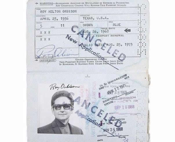 Pasaporte de Johnny Cash (6)