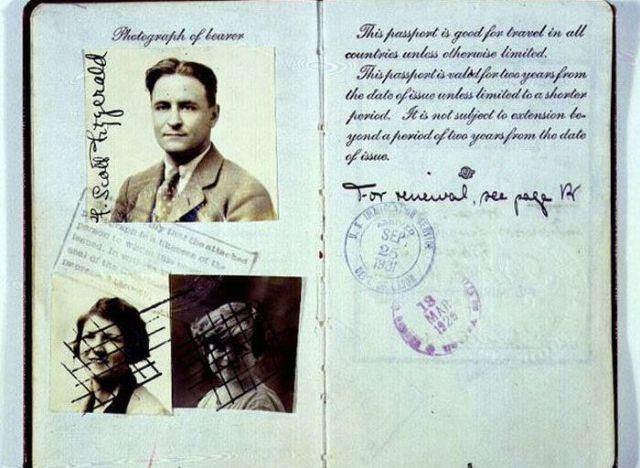Pasaporte de   F. Scott Fitzgerald (14)