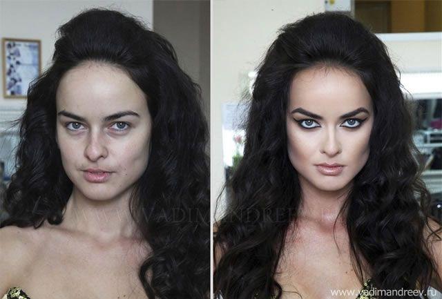 antes despues maquillaje Vadim Andreev (7)