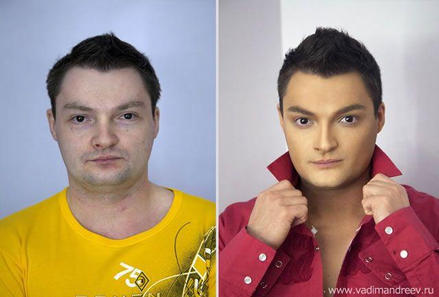 antes despues maquillaje Vadim Andreev (29)