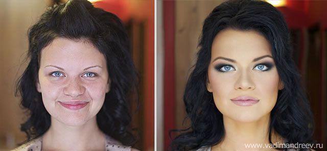 antes despues maquillaje Vadim Andreev (27)