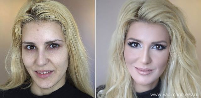 antes despues maquillaje Vadim Andreev (26)
