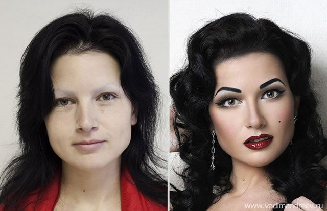 antes despues maquillaje Vadim Andreev (25)