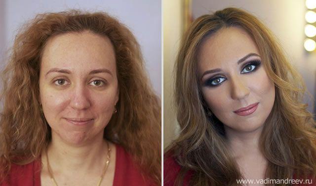 antes despues maquillaje Vadim Andreev (23)