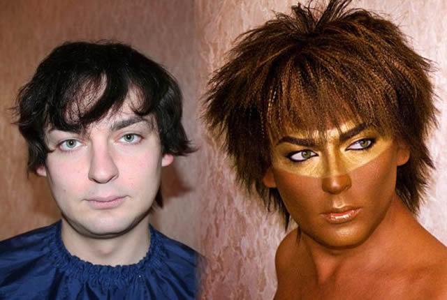 antes despues maquillaje Vadim Andreev (12)