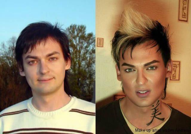 antes despues maquillaje Vadim Andreev (19)