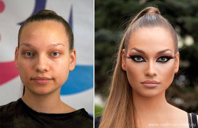 antes despues maquillaje Vadim Andreev (18)