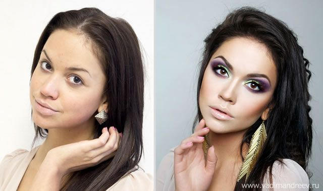 antes despues maquillaje Vadim Andreev (6)