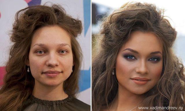 antes despues maquillaje Vadim Andreev (2)