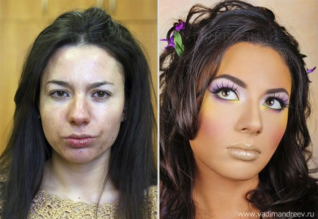 antes despues maquillaje Vadim Andreev (33)