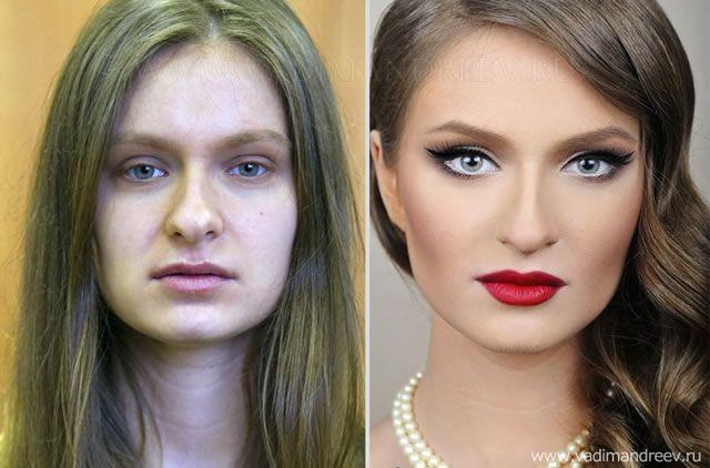 antes despues maquillaje Vadim Andreev (31)