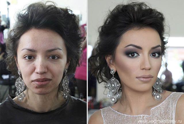 antes despues maquillaje Vadim Andreev (30)