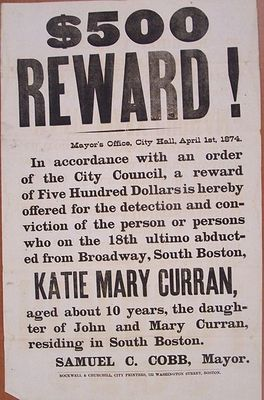 Katie Curran recompensa