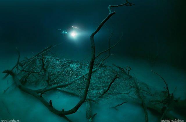Cenote Angelita rio subterraneo (7)