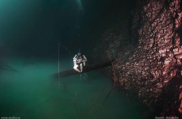Cenote Angelita rio subterraneo (4)