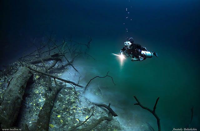 Cenote Angelita rio subterraneo (3)