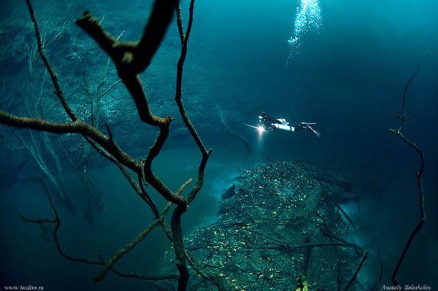 Cenote Angelita rio subterraneo (1)