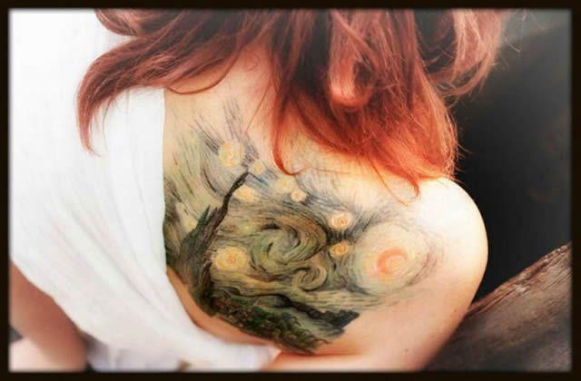 41 tatuajes increíbles inspirados en obras de arte 02
