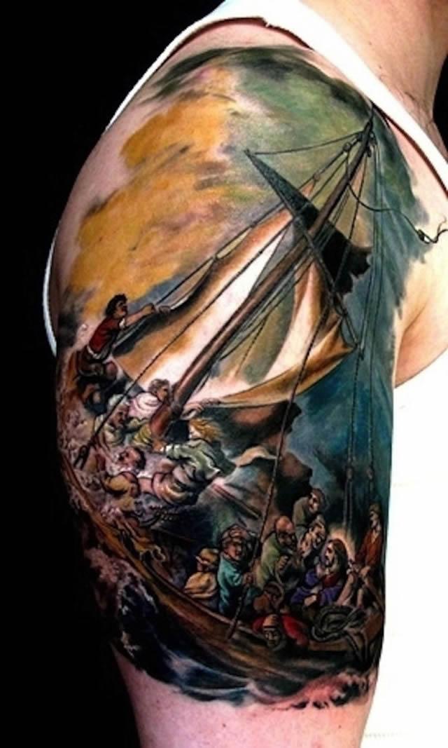 41 tatuajes increíbles inspirados en obras de arte 06