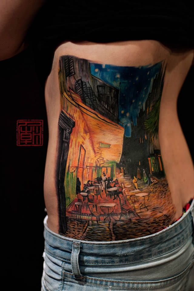 41 tatuajes increíbles inspirados en obras de arte 08