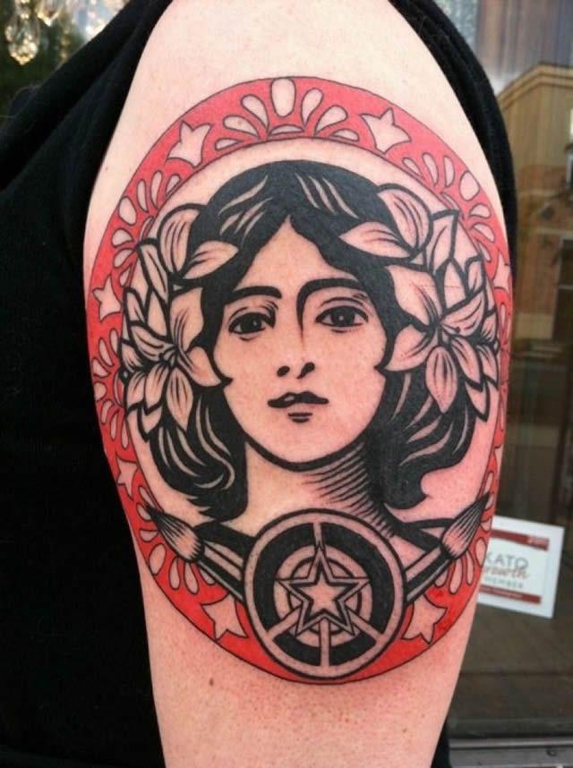 41 tatuajes increíbles inspirados en obras de arte 16