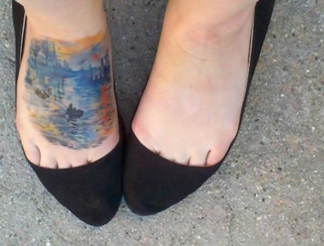41 tatuajes increíbles inspirados en obras de arte 19