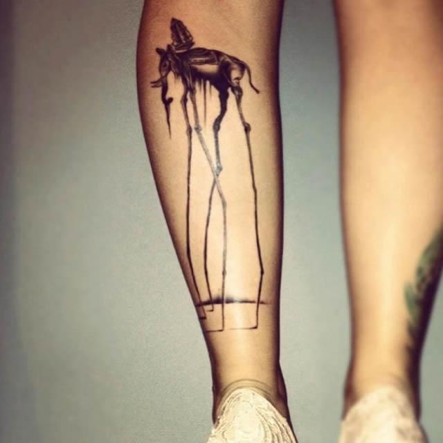 41 tatuajes increíbles inspirados en obras de arte 20