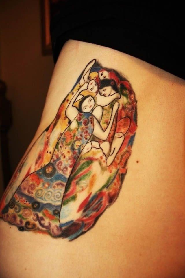 41 tatuajes increíbles inspirados en obras de arte 24