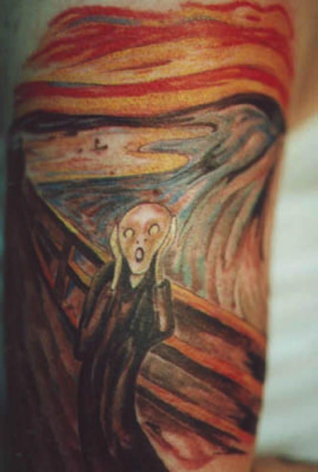 41 tatuajes increíbles inspirados en obras de arte 32