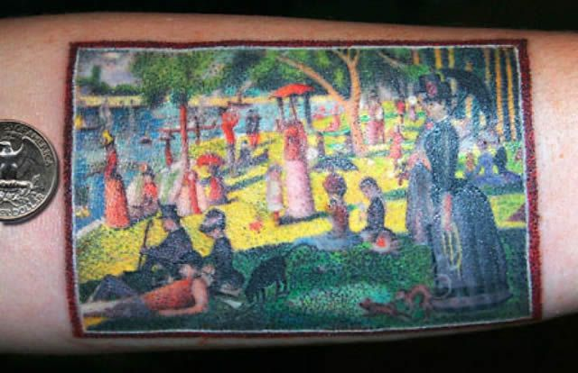 41 tatuajes increíbles inspirados en obras de arte 37