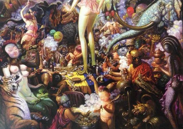 Prateep Kochabua pinturas surrealismo (2)