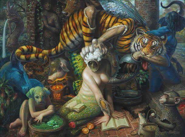 Prateep Kochabua pinturas surrealismo (18)