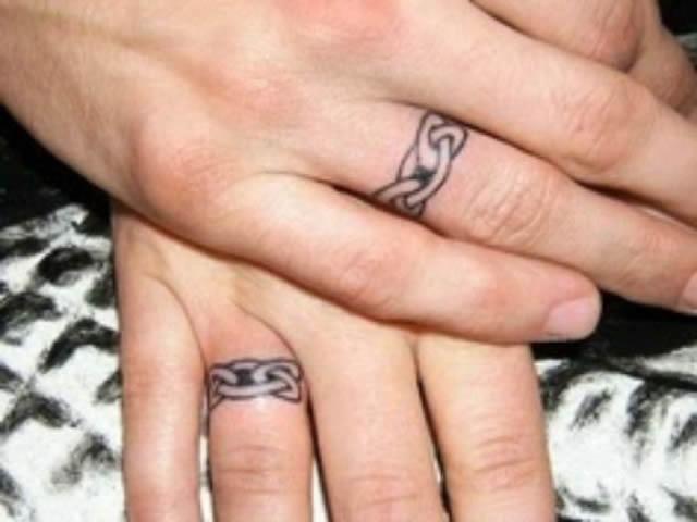 Los 45 mejores tatuajes de anillos de bodas marcianos - Anillo de casado mano ...