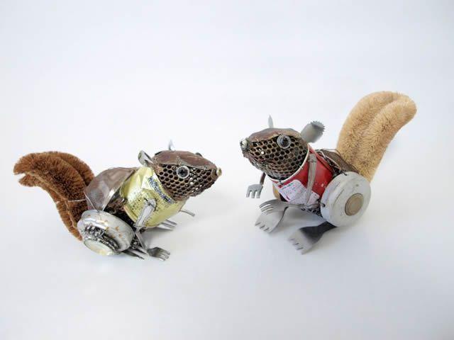 esculturas animales recicladas Natsumi Tomita (13)