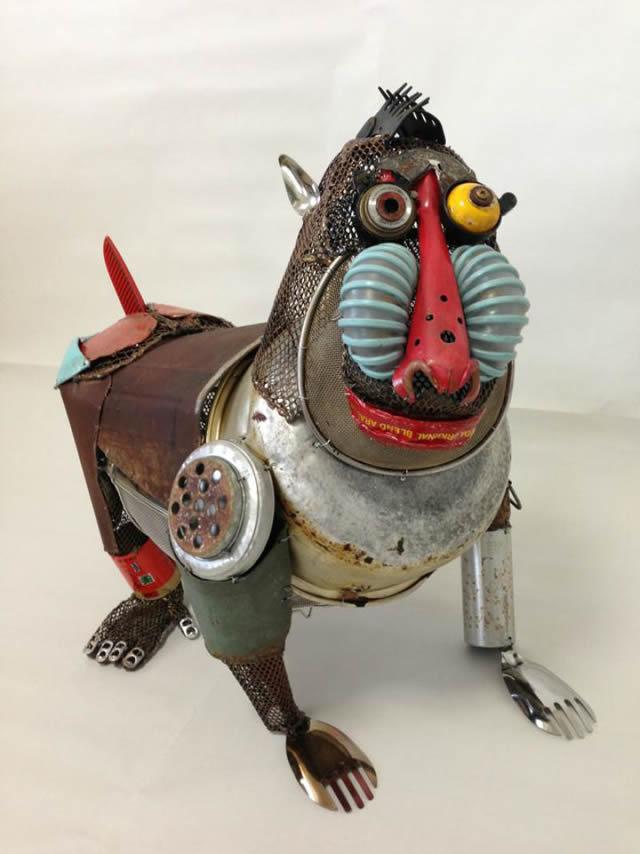 esculturas animales recicladas Natsumi Tomita (2)
