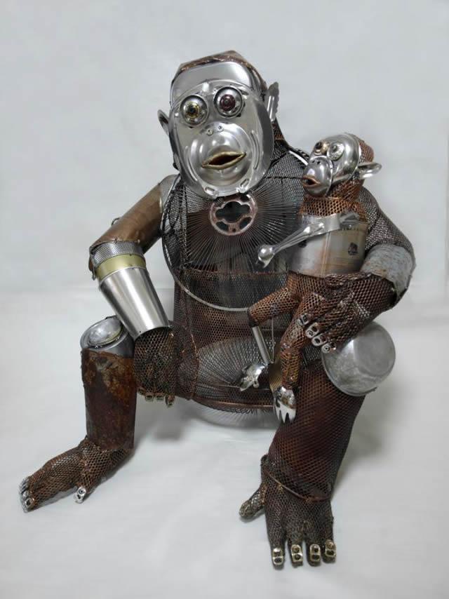 esculturas animales recicladas Natsumi Tomita (3)