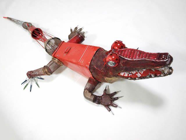 esculturas animales recicladas Natsumi Tomita (9)