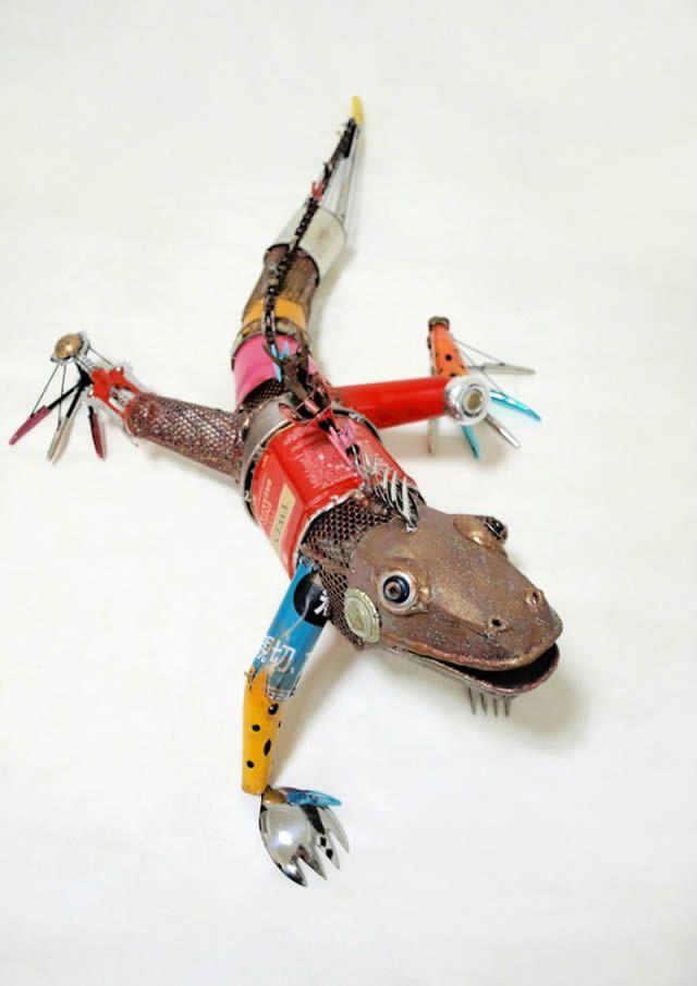 esculturas animales recicladas Natsumi Tomita (7)