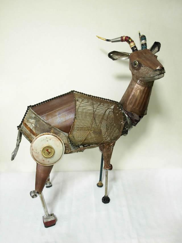 esculturas animales recicladas Natsumi Tomita (5)