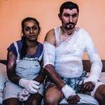 Hombre en llamas, inmolación como protesta en Bulgaria