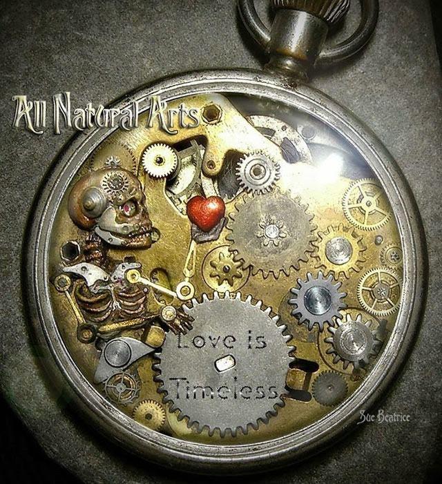 esculturas naturales hechas en relojes antiguos (4)