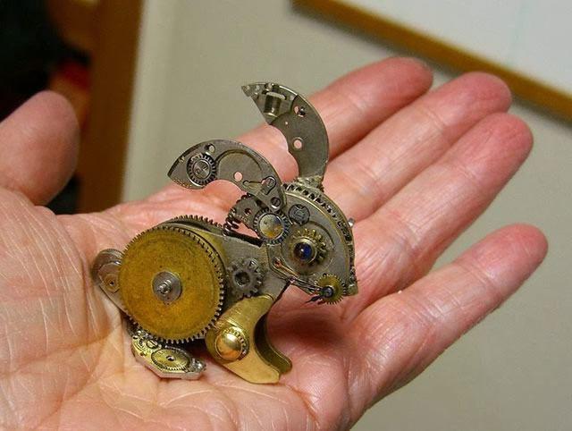esculturas naturales hechas en relojes antiguos (3)