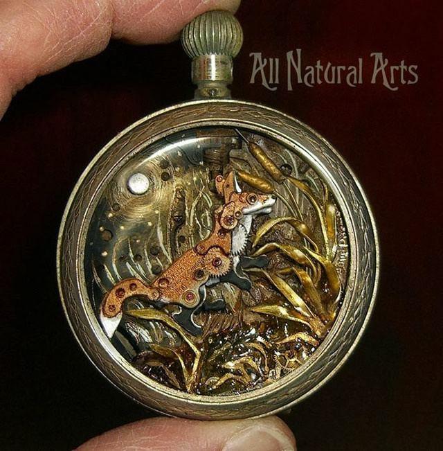 esculturas naturales hechas en relojes antiguos (8)