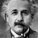 Albert Einstein Pipa fumador