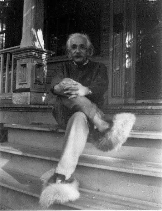 Albert Einstein pantuflas
