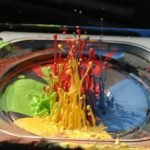 pintura color a camara lenta